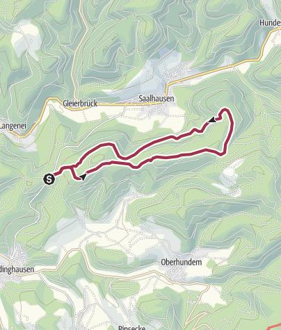 Karte / Saalhausen: Saalhauser Höhenweg