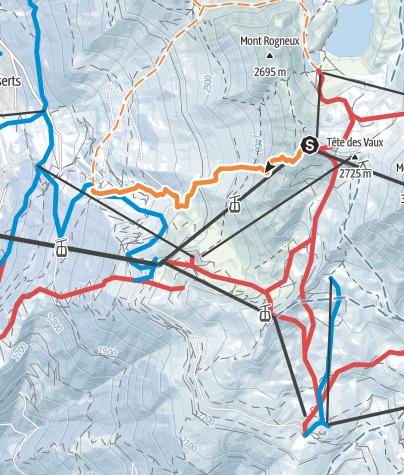 Karte / Verbier - Attelas