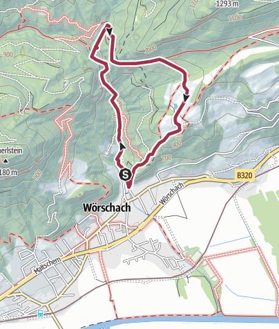 Map / Circular hike through the Wörschachklamm to the ruin Wolkenstein