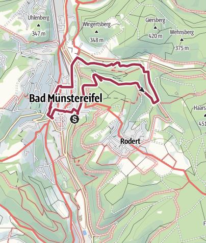 Karte / Wanderung 1999