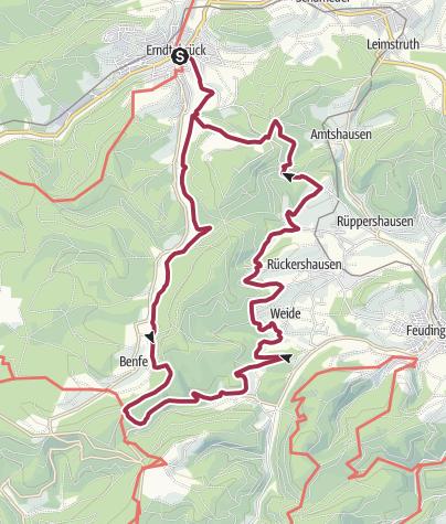 Karte / Mäanderweg