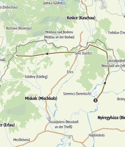 Karte / Rákóczi-Tour (Region Eger-Tokaj Bergland)