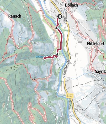 Karte / Gartlwasserfall bei Großkirchheim
