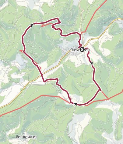 Karte / Veischeder Sonnenpfad - Südschleife
