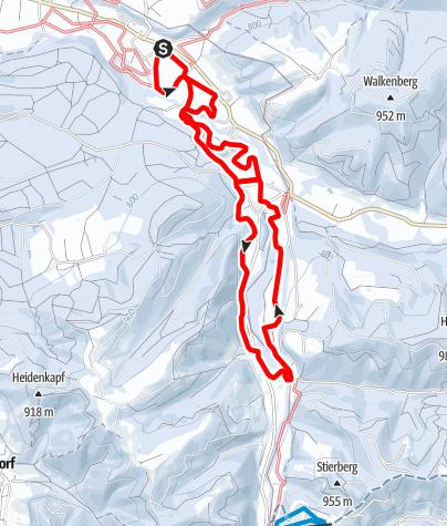 Karte / 4.2 Eschachtal-Loipe 10 Kilometer