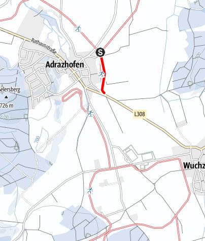 Karte / zu 2.1 Loipenanschluss Moosmühle-Loipe - Adrazhofen
