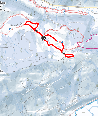 Karte / Thaler-Höhe-Loipe