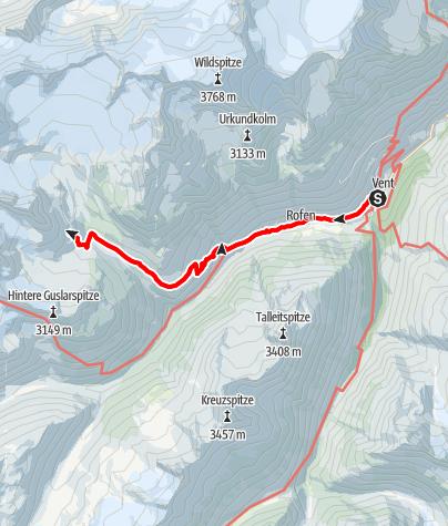Karte / Von Vent zur Vernagthütte (2755 m)