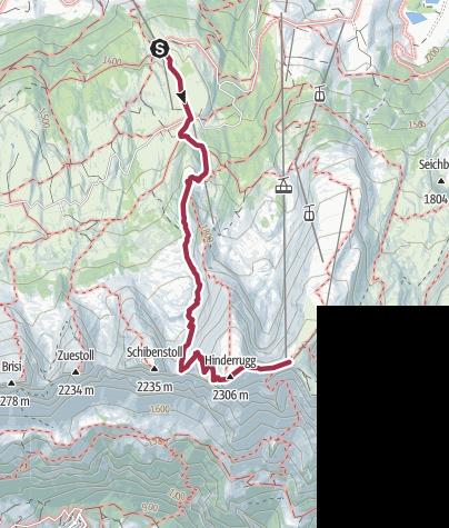 Map / Hinterrugg – die höchste Spitze der sieben Churfirsten