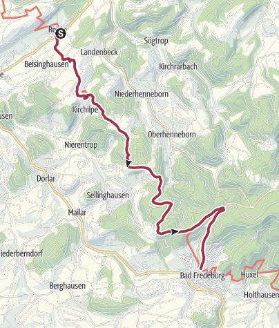 Karte / Sauerland-Höhenflug: Von Reiste nach Bad Fredeburg
