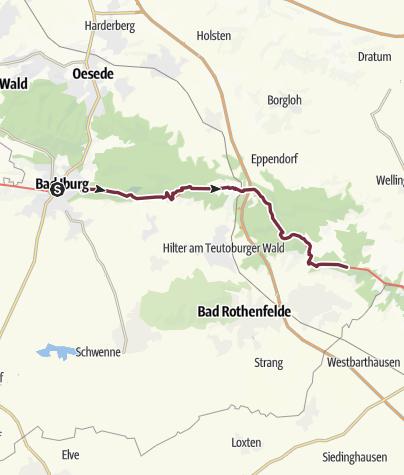 Karte / Hermannshöhen - Etappe 04 von Bad Iburg nach Dissen