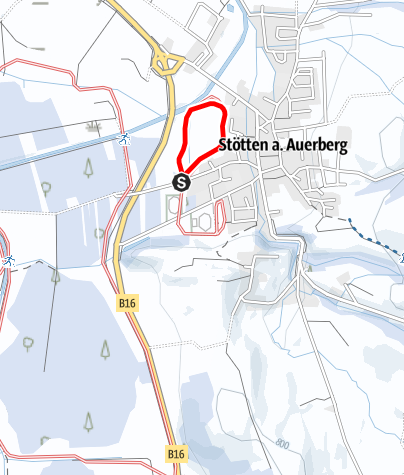 Karte / Loipenrunde an der Roßmoosstraße (St 3)