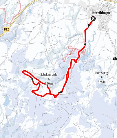 Karte / Rundkurs Richtung Kemptener Wald (U 2)