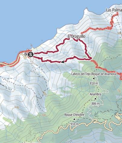 Map / Küstenwanderung nach El Draguillo