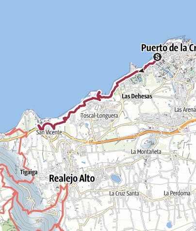 Map / Küstenwanderung bei Puerto de La Cruz
