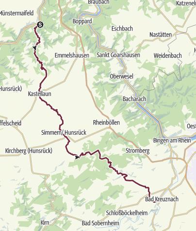 Mapa / Mosel-Nahe-Wanderweg