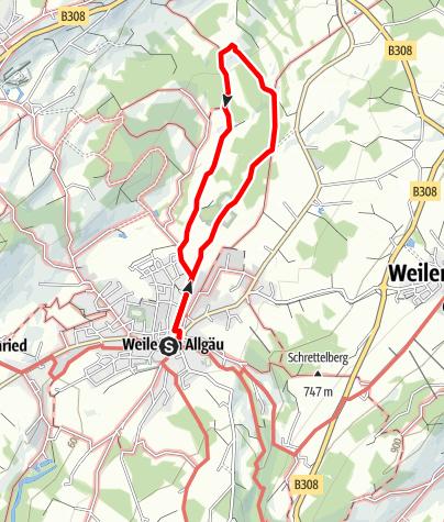 Karte / Der Erratische Block - einer der größten Eiszeitfindlinge Europas - Westallgäuer Wasserweg 12