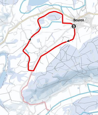 Karte / Beurener Loipe
