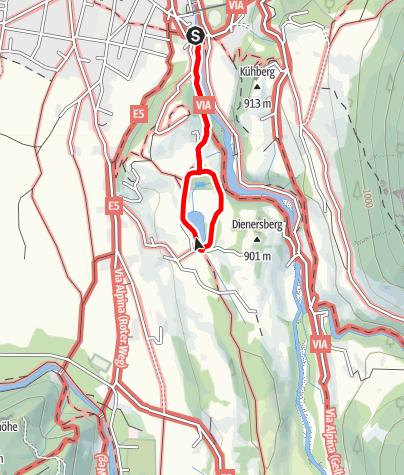 Karte / Der Naturlehrpfad am Moorweiher