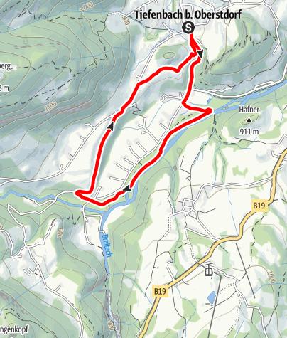 Karte / Tiefenbach