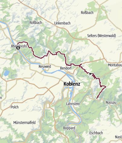 Karte / Limeswanderweg Westerwald