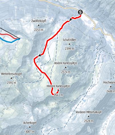 Karte / Hintere Karlesspitze