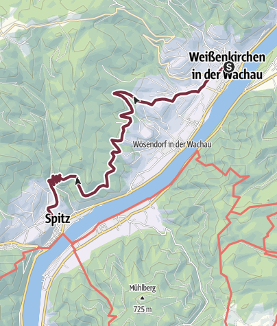 Wachau Karte.Welterbesteig Wachau 03 Weißenkirchen Spitz Fernwanderweg