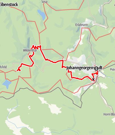 """Karte / Kammweg Etappe 11 """"Von Johanngeorgenstadt nach Weitersglashütte"""""""
