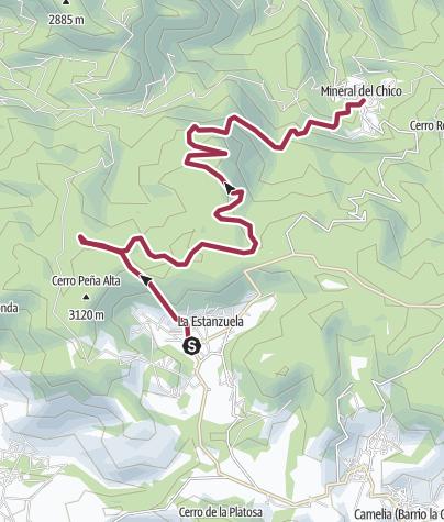 Mapa / la estanzuela - mineral