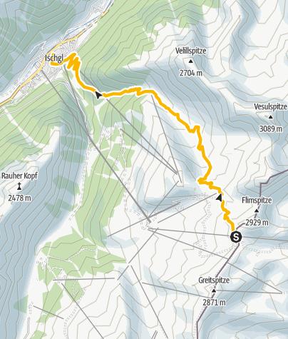 Karte / Velill-Enduro-Trail nach Ischgl