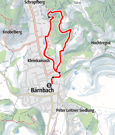 Karte / Bärnbacher Erzherzog Johann Wanderweg