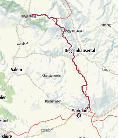 Map / Jubiläumsweg Bodenseekreis: von Markdorf nach Heiligenberg