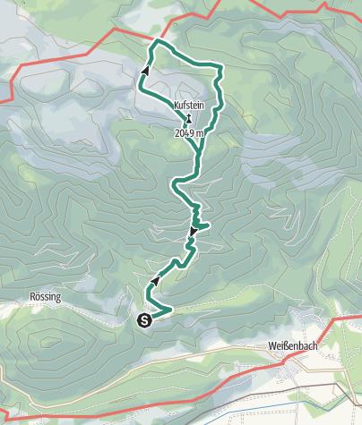 """Map / The Kufstein Summit Tour - high above the land """"Am Stein"""""""