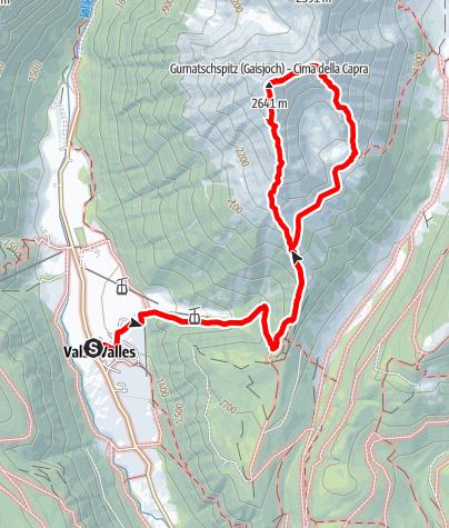 Karte / Gaisjoch- und Feldspitze - steile Bergwiesen und mächtige Granitblöcke