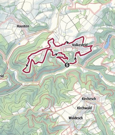 Karte / Traumpfad Heidehimmel Volkesfeld