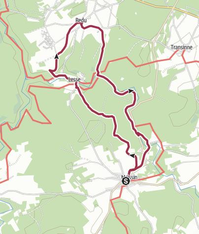 Karte / Von Maissin nach Redu – Unterwegs an der oberen Lesse