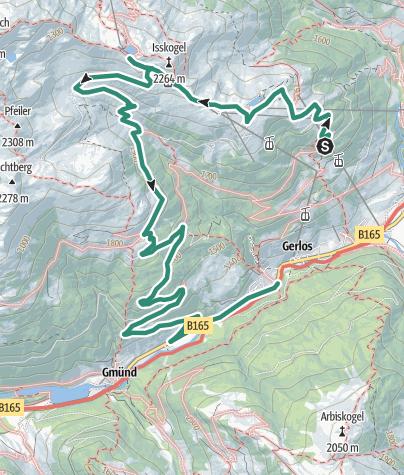 Karte / Isskogel 2264m