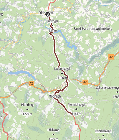 Karte / 4. Etappe: Jakobsweg Weststeiermark