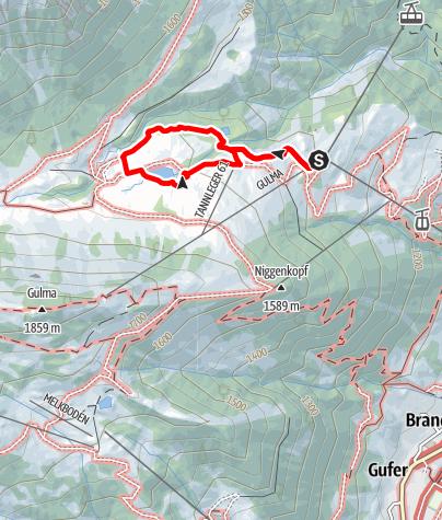 Karte / Barfussweg | Brand