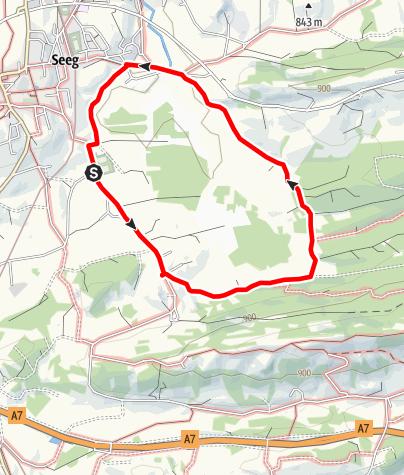 Karte / Wiesleutener-Moos-Runde