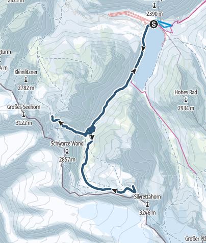 Karte / Schneeglocke im Herzen der Silvretta