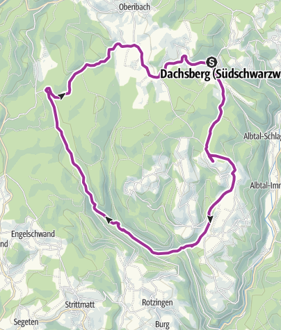 Karte / Dachsberg: Radtour ins Schwarzenbächletal