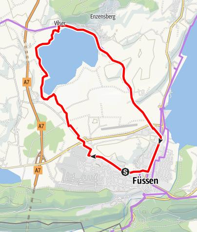 Karte / Rund um den Hopfensee