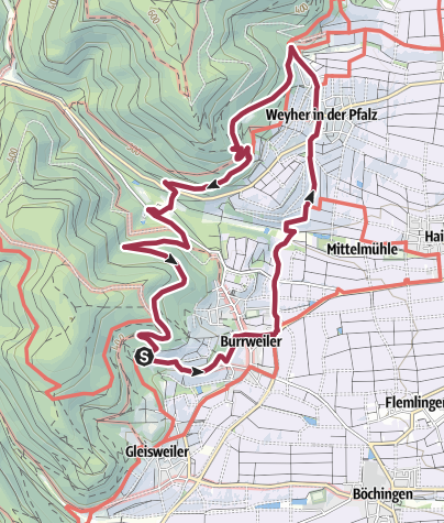 Karte / Pälzer Keschdeweg (Genusstour)
