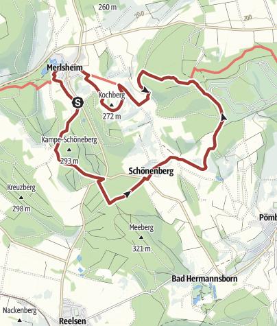 Karte / Schwung nehmen - Wanderweg Merlsheim