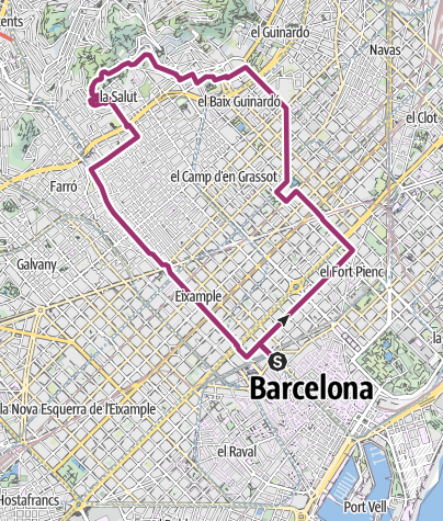 Map / In Antoni Gaudí's footsteps through Barcelona