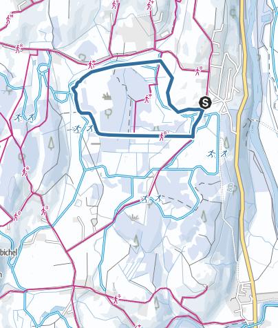 Karte / Moos Runde - Schneeschuhtour bei Ofterschwang