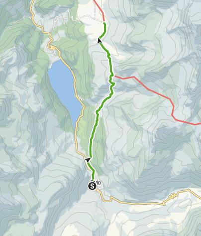 Karte / Bivio - Alp Natons - Alp Flix