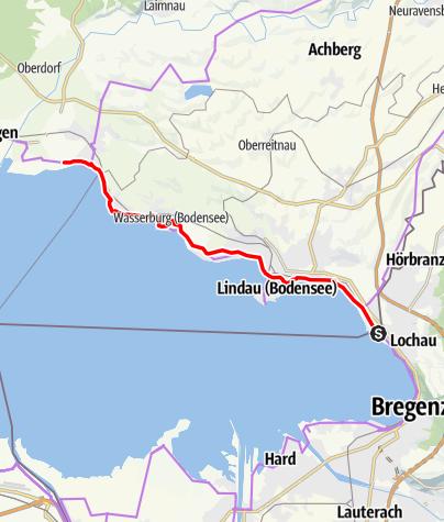 Karte / Deutschland-Route D8 FRW