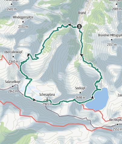 Karte / Schesaplana Rundtour (2 Tage)   Brand